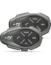 Cellular Line Interphone Tour, Interfono Auricolare Bluetooth 3.0 per Casco da Moto, Pack 2 Persone