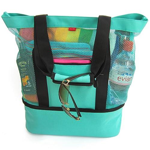 La bolsa de tela Aruba Mesh Beach con cremallera y ...
