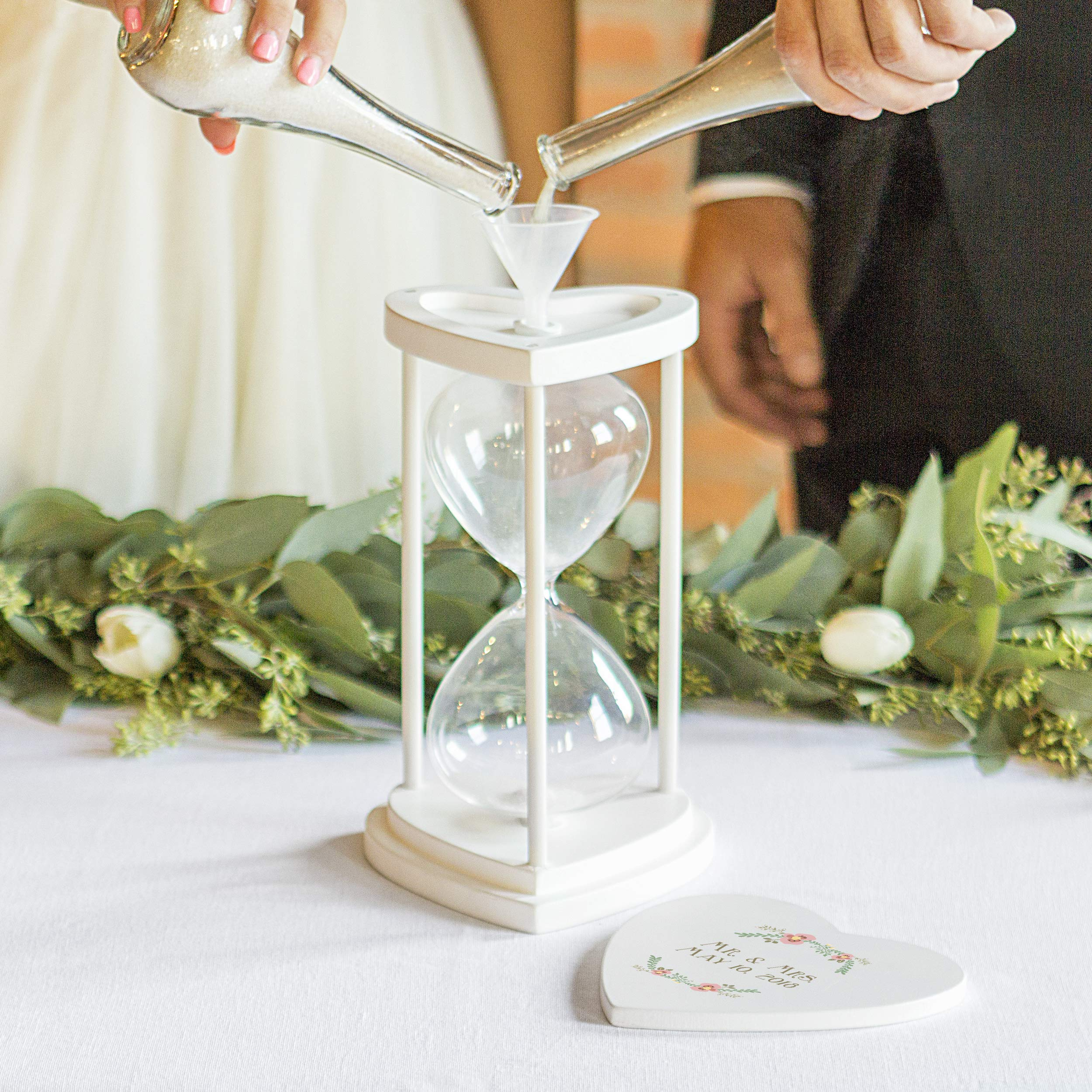Cathy's Concepts Personalized Floral Unity Sand Ceremony Hourglass Set by Cathy's Concepts (Image #2)
