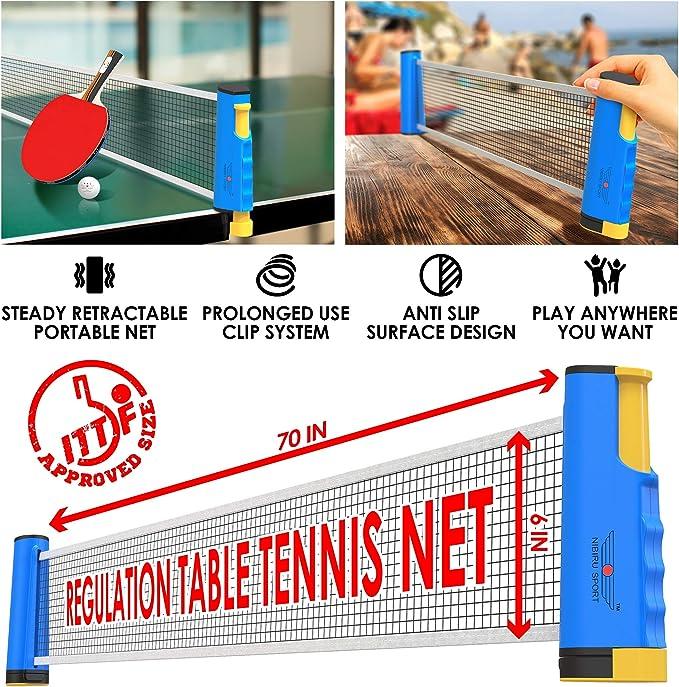 Amazon.com: Ping Pong - Juego de 4 palas de ping-pong de ...