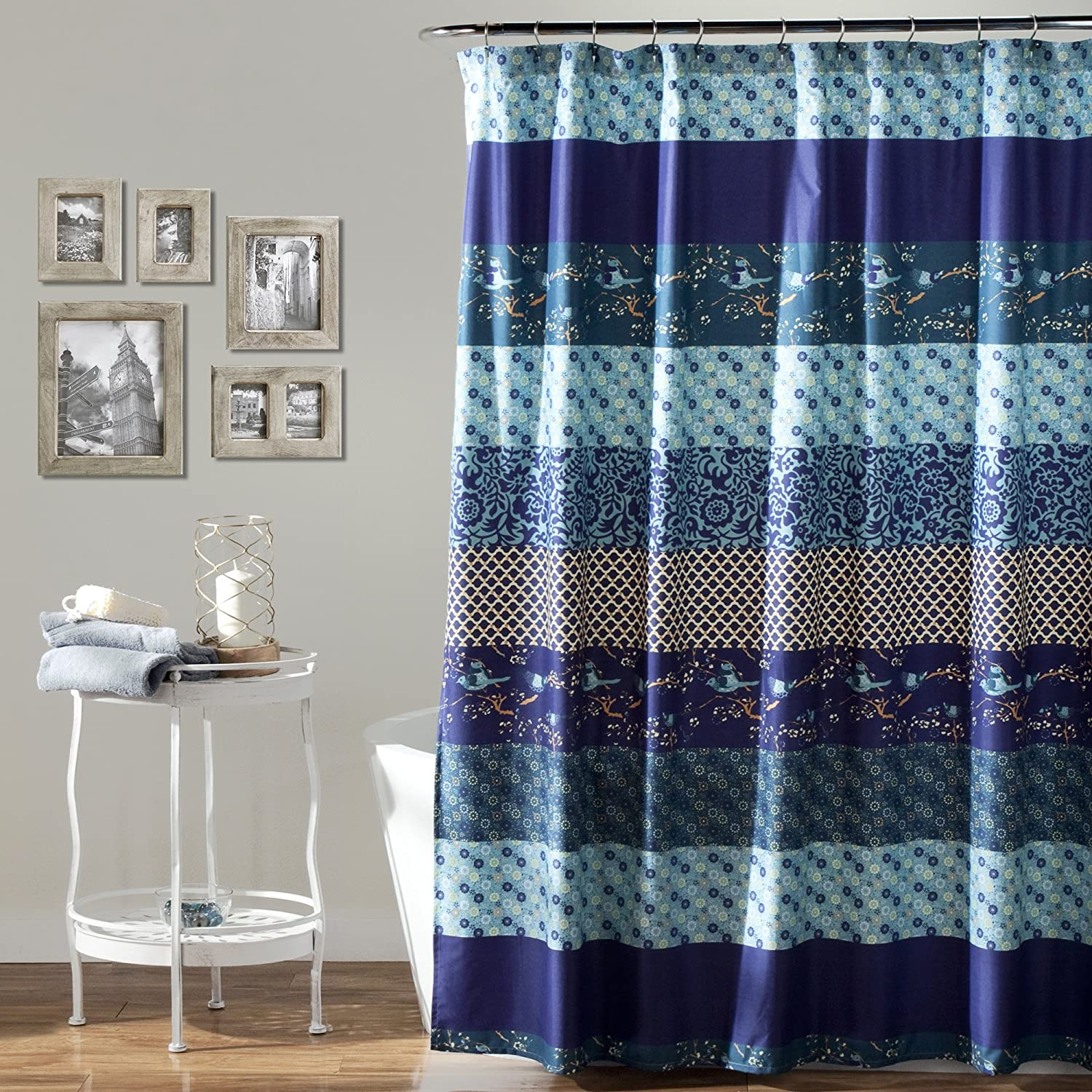 Amazon Lush Decor Royal Empire Shower Curtain Peacock 72 X Home Kitchen