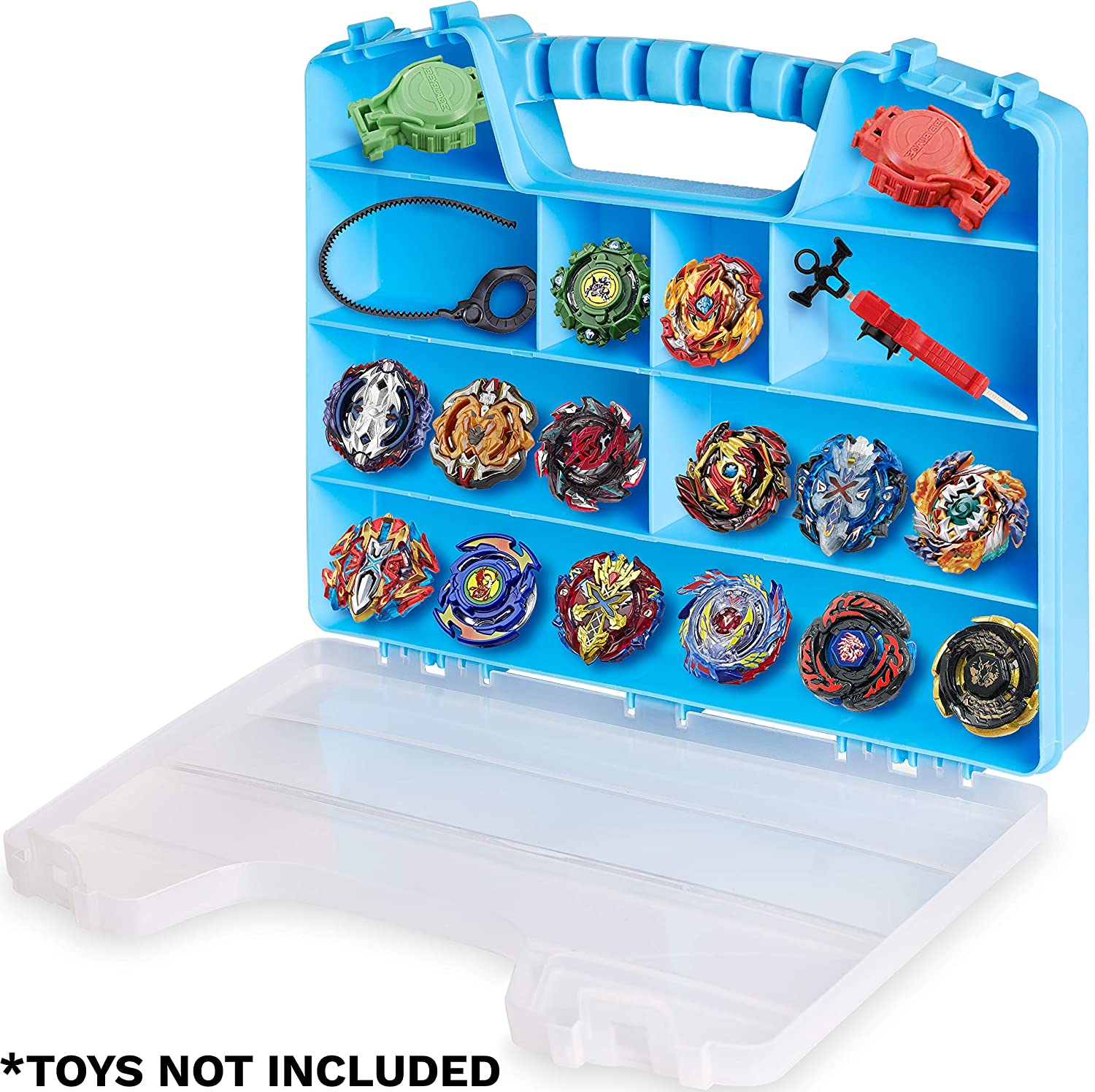 ASH BRAND Super Durable Carrying Case - Battle Spinners Toys Organizer   Blade Storage Box (Hurricane)