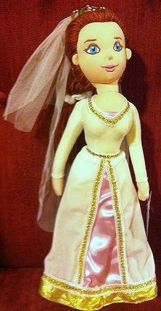Amazon.com: Shrek Princess Fiona in Wedding Gown 12 Plush Stuffed ...