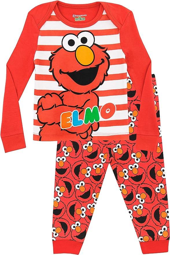 Plaza Sésamo - Pijama para Niñas - Elmo - Ajuste Ceñido