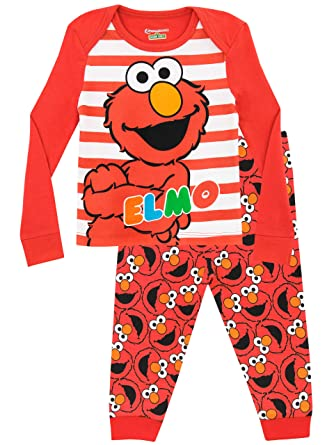 b3cc97db97fc Amazon.com  Sesame Street Girls  Elmo Pajamas  Clothing