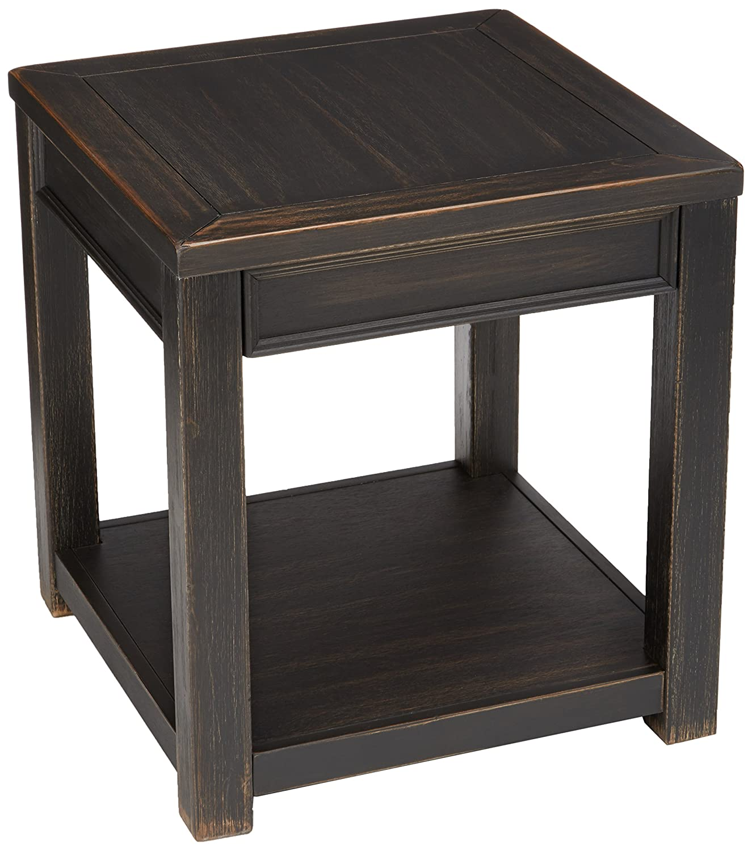 Ashley Furniture Signature Design - Gavelston End Table - Square - Rubbed Black Finish