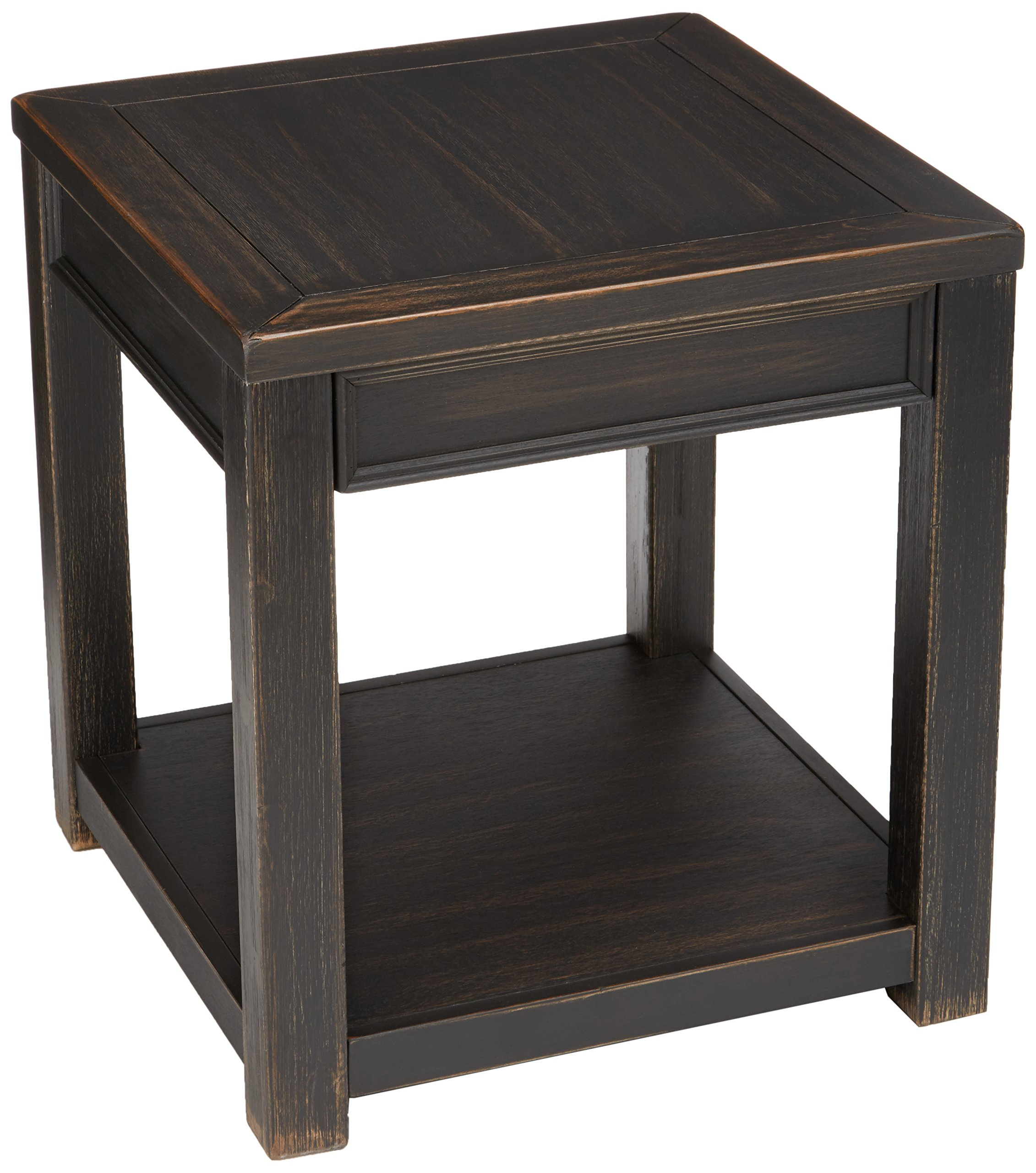Ashley Furniture Signature Design - Gavelston End Table - Square - Rubbed Black Finish by Signature Design by Ashley