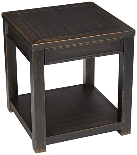 Signature Design by Ashley – Gavelston End Table, Rubbed Black Finish