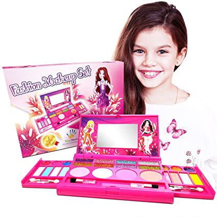 Lovely Princess Fashion Makeup Vanity Cosmetics Set   Deluxe Cosmetic Palette With  Mirror For Girls