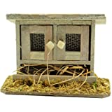 Touch of Nature Mini Fairy Garden Chicken Coop, 3.7 by 2.8-Inch, Wood