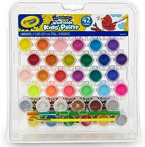 Crayola Washable Paint Set, Kids Stocking Stuffers, 42 Count