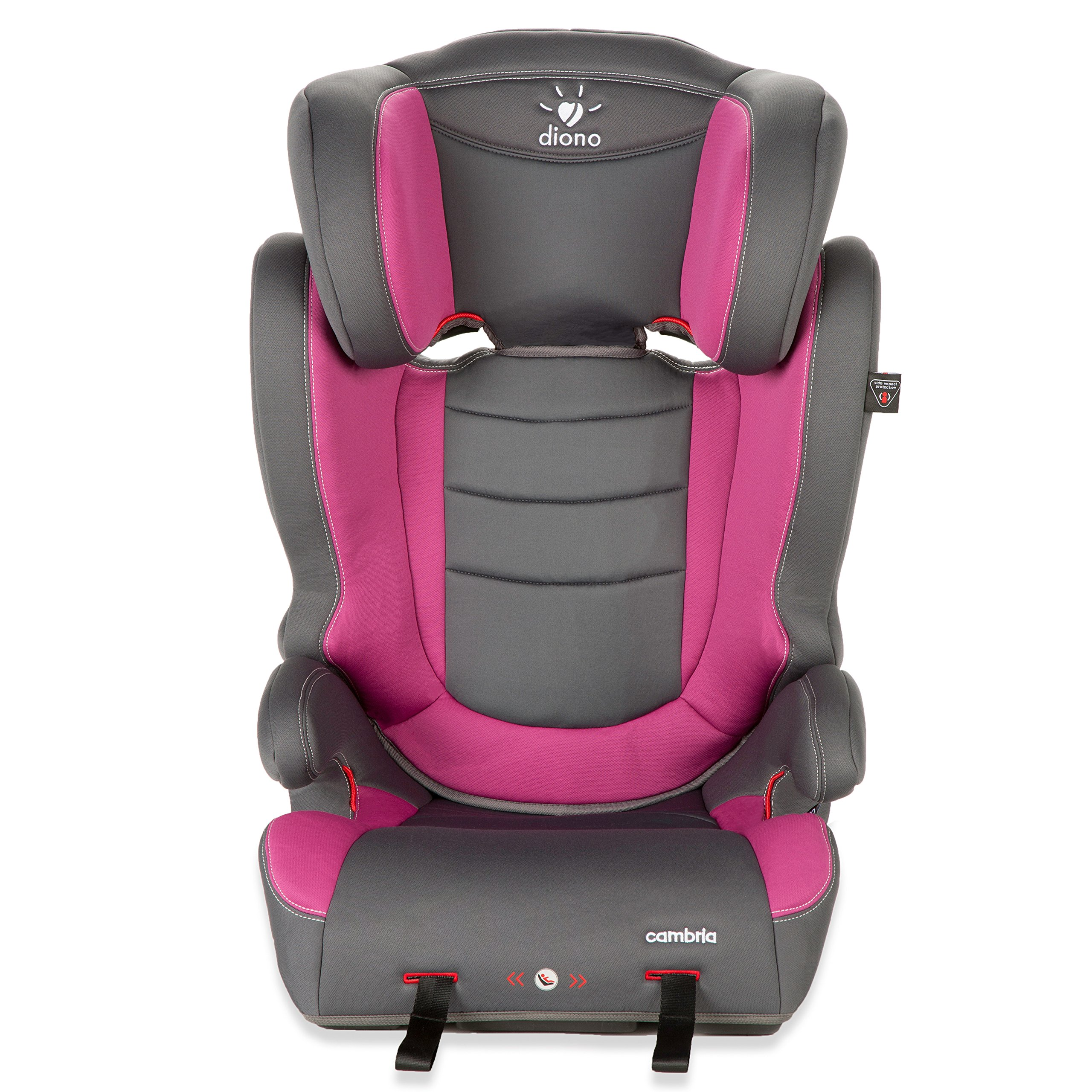 diono cambria booster car seat raspberry amazon. Black Bedroom Furniture Sets. Home Design Ideas