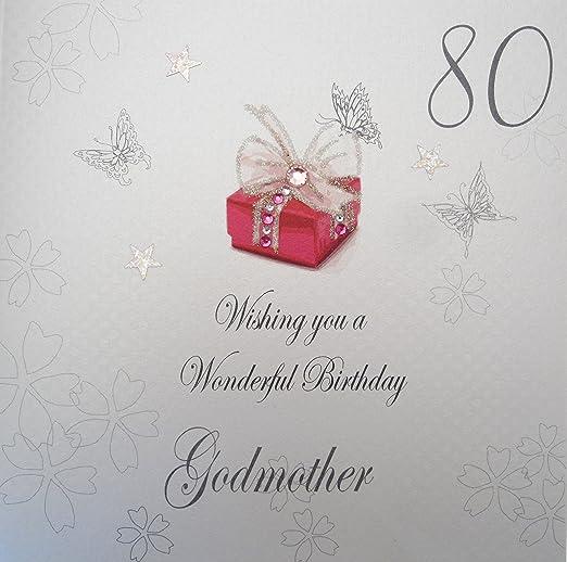 White Cotton Cards bdp80-Godm 80 DE felicitación para ...