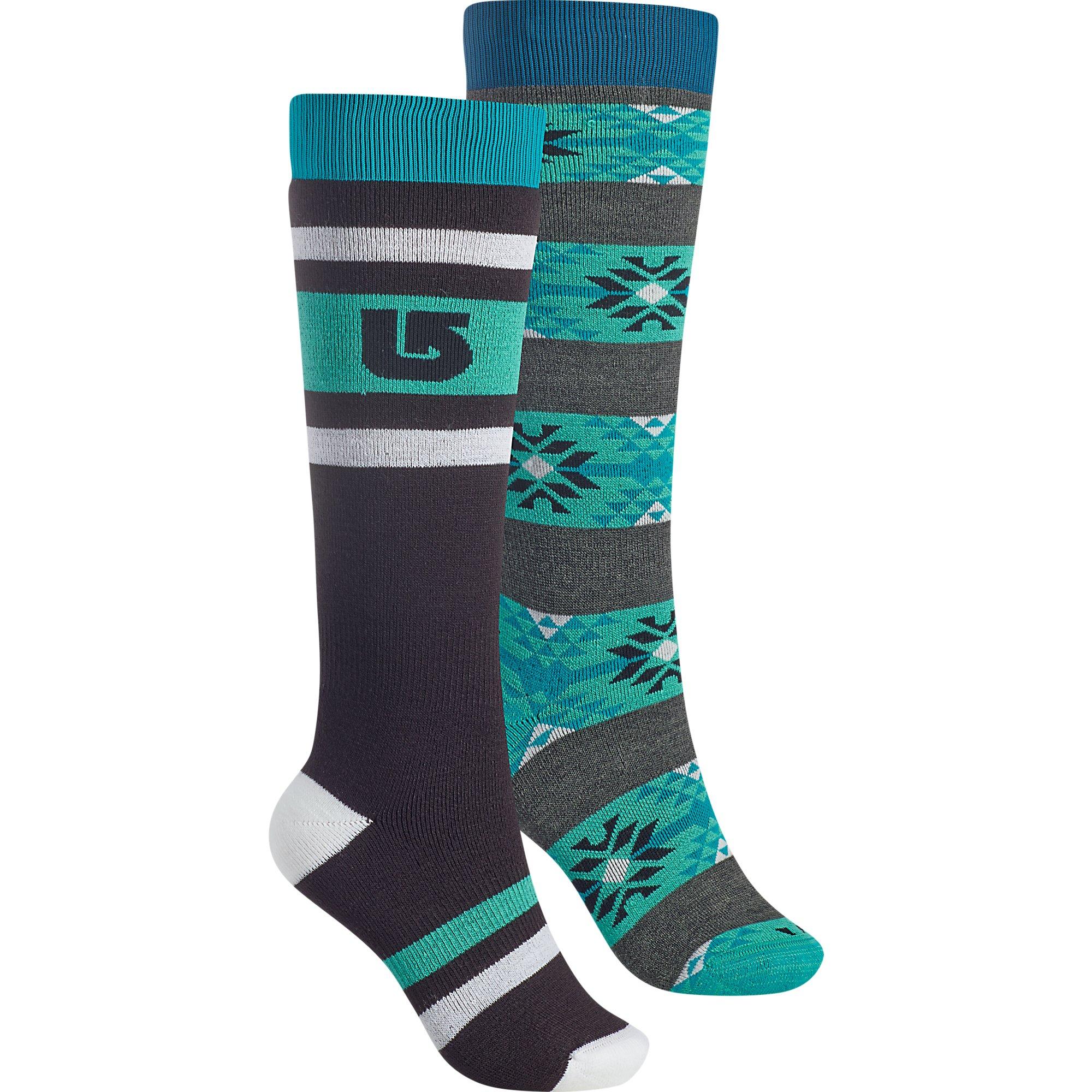 Burton Women's Weekend Socks (2 Pack), True Black, Medium/Large by Burton