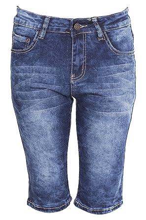 Noroze Mezclilla Pantalones Cortos Floral Capri Jeans para Mujer