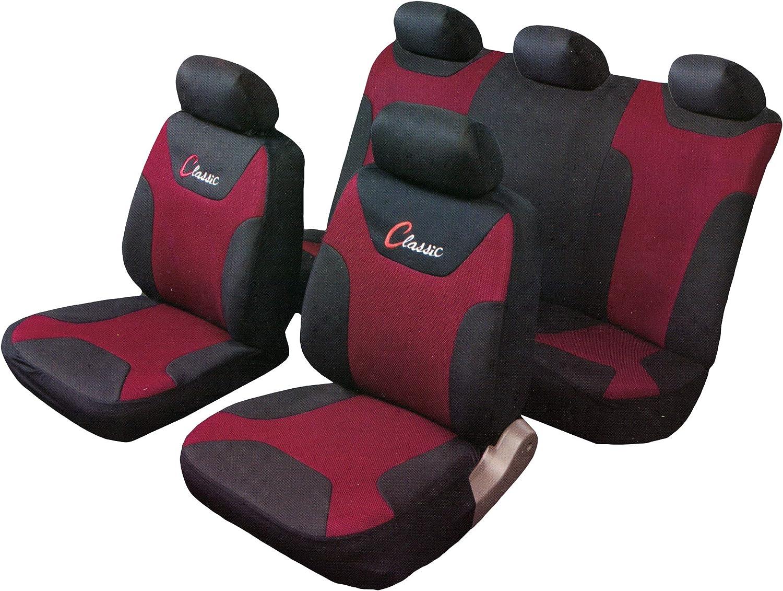 IRVING Coprisedili per Auto universali 100/% Maglina Acapulco con Schienale Posteriore frazionabile Bracciolo e airbag Compatibile MOD