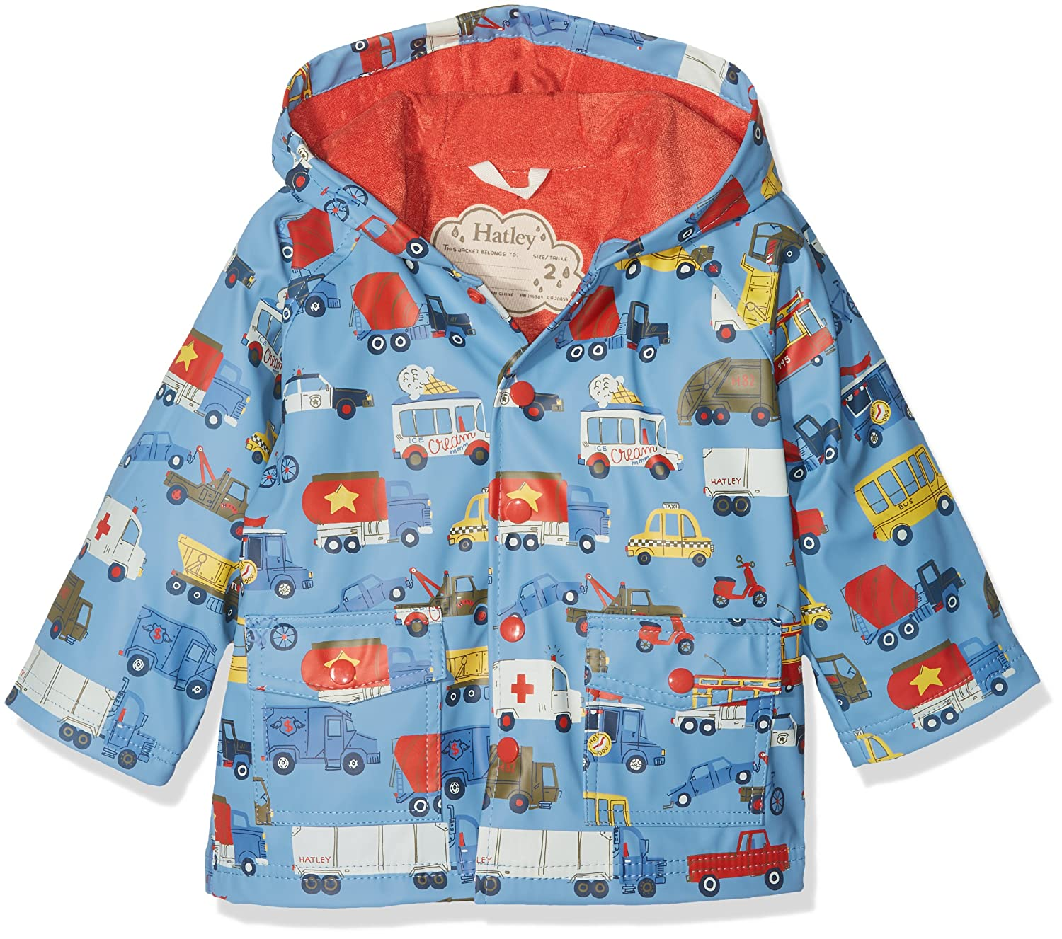 Hatley Kids Mens Rush Hour Classic Raincoat (Toddler/Little Kids/Big Kids) RC6AUTO531