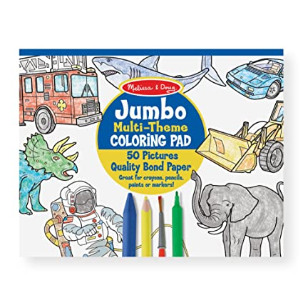 Amazon.com: Melissa & Doug Jumbo 50-Page Kids\' Coloring Pad - Space ...