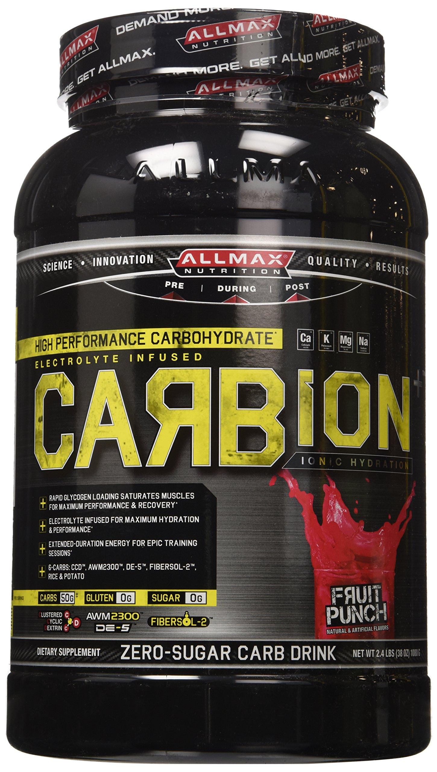 ALLMAX Nutrition CARBION+ (40 Servings) (Fruit Punch), 2.4 pounds