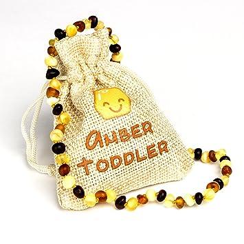 Amazon.com: Collar de dentición de ámbar báltico para bebés ...