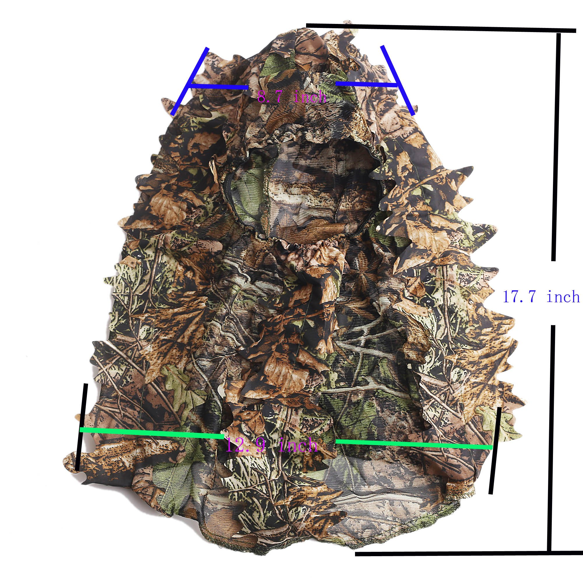 ABCAMO Light Weight Hunting Camouflage Full Cover 3D Leafy Face Mask by ABCAMO (Image #7)