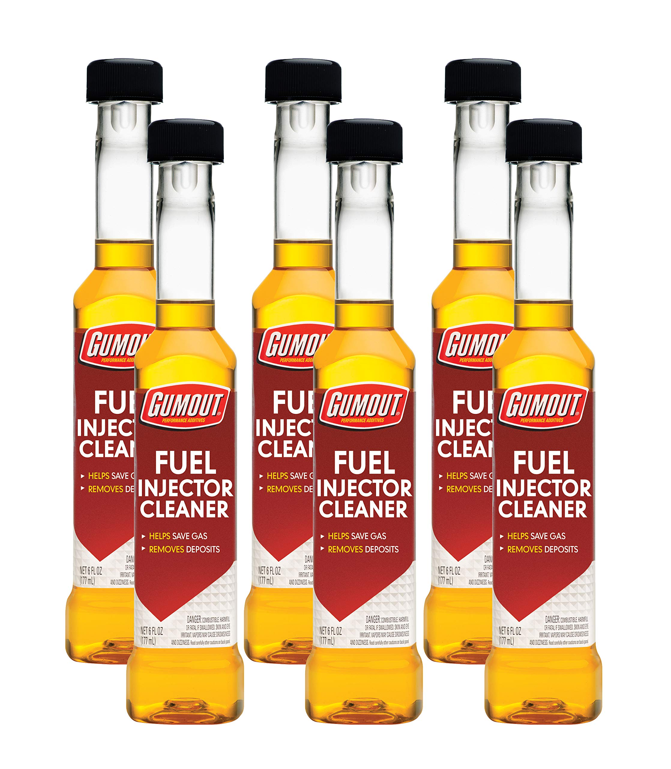 Gumout 510019 Fuel Injector Cleaner, 6 oz. (Pack of 6) by Gumout