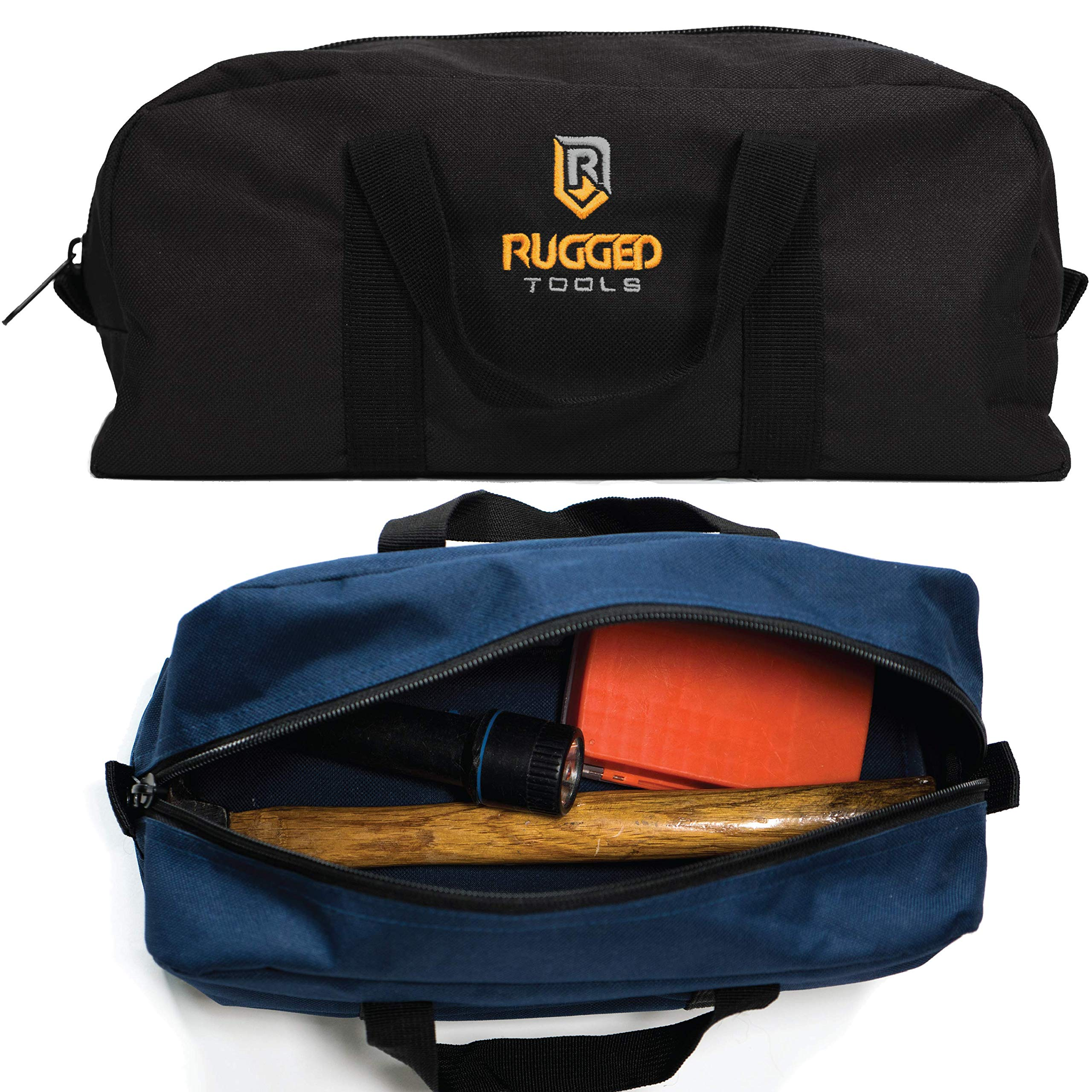 Rugged Tools Tool Bag Combo - Includes 1 Small & 1 Medium Toolbag - Organizer Tote Bags for Electrician, Plumbing, Gardening, HVAC & More by Rugged Tools (Image #5)