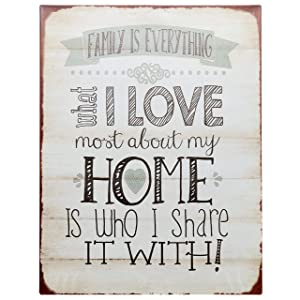 """Barnyard Designs Family is Everything Retro Vintage Tin Bar Sign Country Home Decor 10"""" x 13"""""""