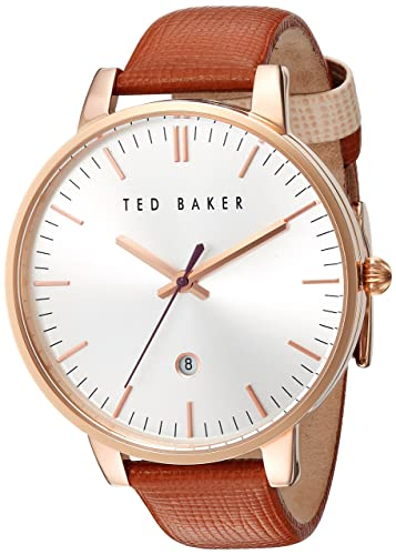 b047b6661 Ted Baker Women s Analog Japanese-Quartz Watch with Leather Strap 10030738   Amazon.co.uk  Watches