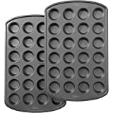 Wilton Perfect Results Premium Non-Stick Bakeware 24-Cup Mini Muffin Pan, Multipack of 2