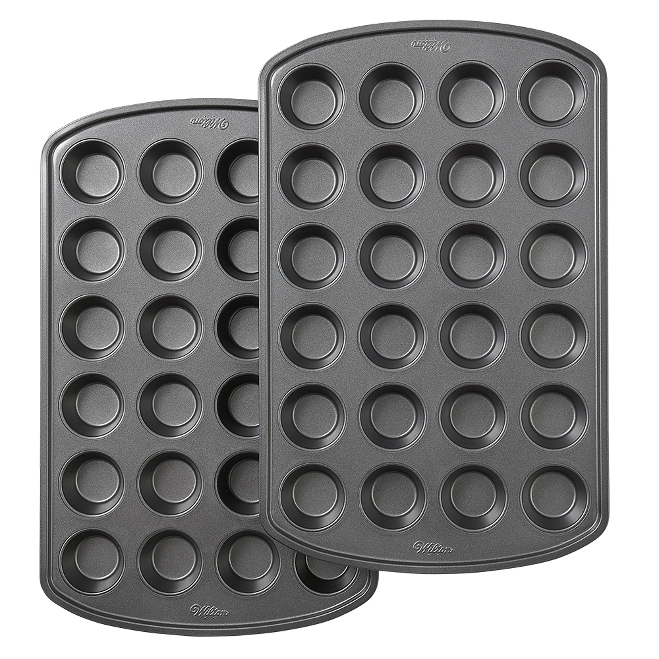 Wilton Perfect Results Premium Non-Stick Bakeware 24-Cup Mini Muffin Pan, Multipack of 2