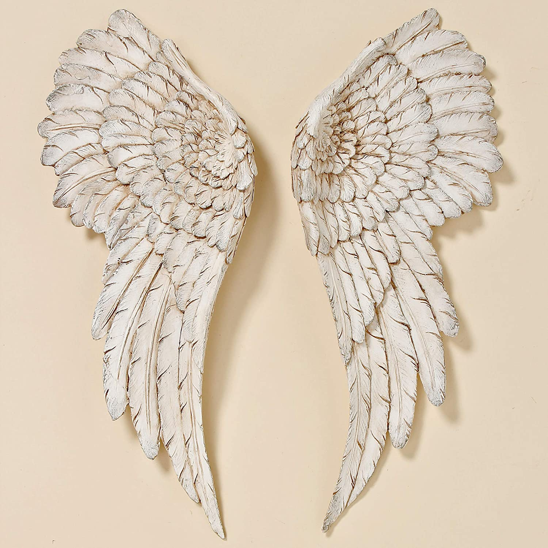 """Wall /""""ange ailes/"""" de Haute Qualité Résine Synthétique or"""