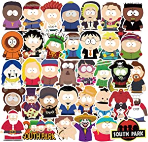 South Park Sticker Pack of 50 Stickers South Park TV Show Stickers for Laptops Hydro Flasks Water Bottles Luggage