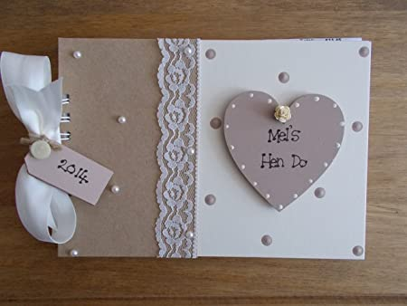 Vintage Personalised Hen Do Photo Album//Scrapbook//Memory Gift With Box