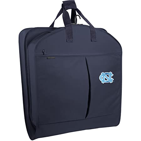 WallyBags North Carolina Tar Heels 40 Inch Suit Length Garment Bag with Pockets, Navy UNC