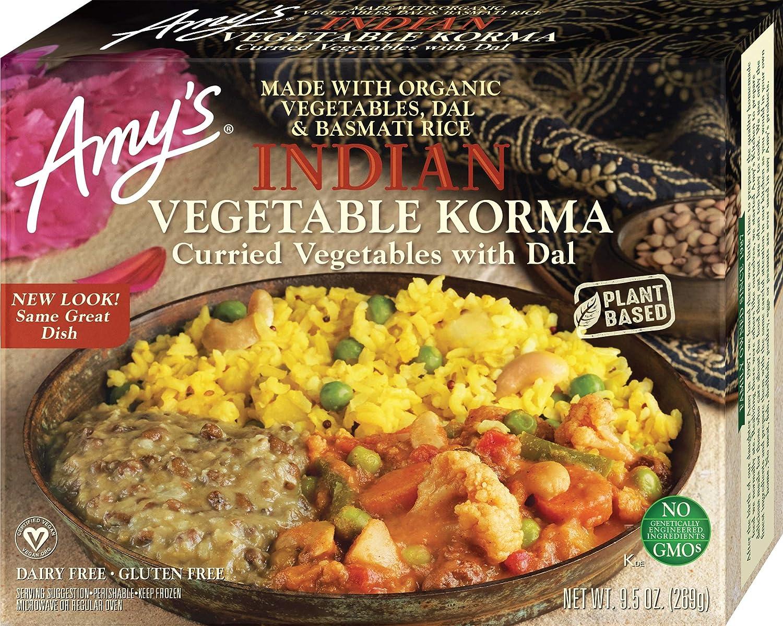 Amy's Indian Vegetable Korma, Non GMO, 9.5-Ounce