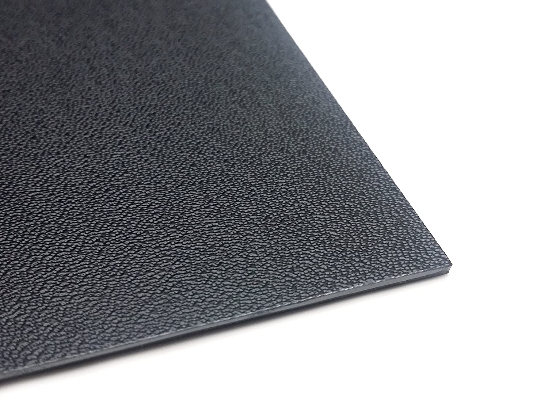 Kunststoffplatte ABS/ASA mittel genarbt 2mm Schwarz 300 x 200 mm az-reptec
