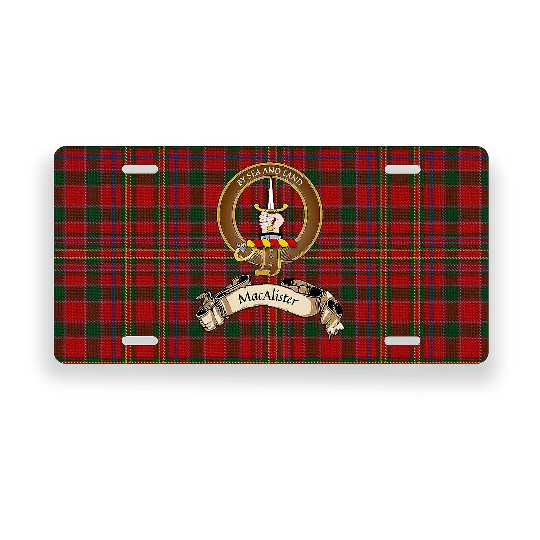 MacAlister Scotland Clan Tartan Novelty Auto Plate
