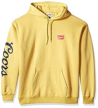 db1c25a649 Amazon.com: Brixton Men's Coors Banquet Hood Fleece Sweater, Buff XS ...