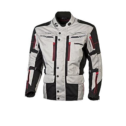 color plateado//negro//rojo Lookwell Outback talla 3XL Chaqueta de equitaci/ón para motocicleta