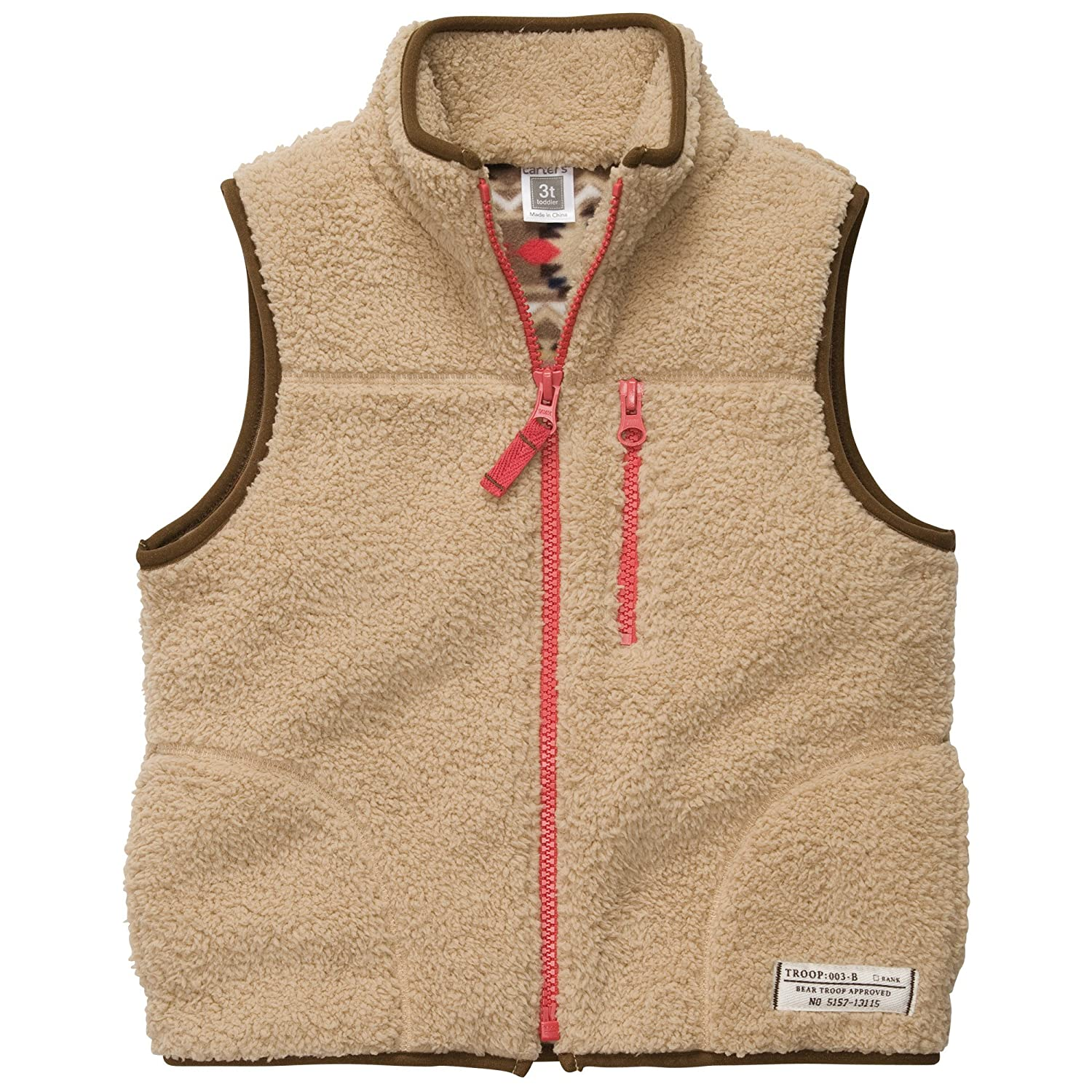 Carter's Boys Sherpa Vest Tan)