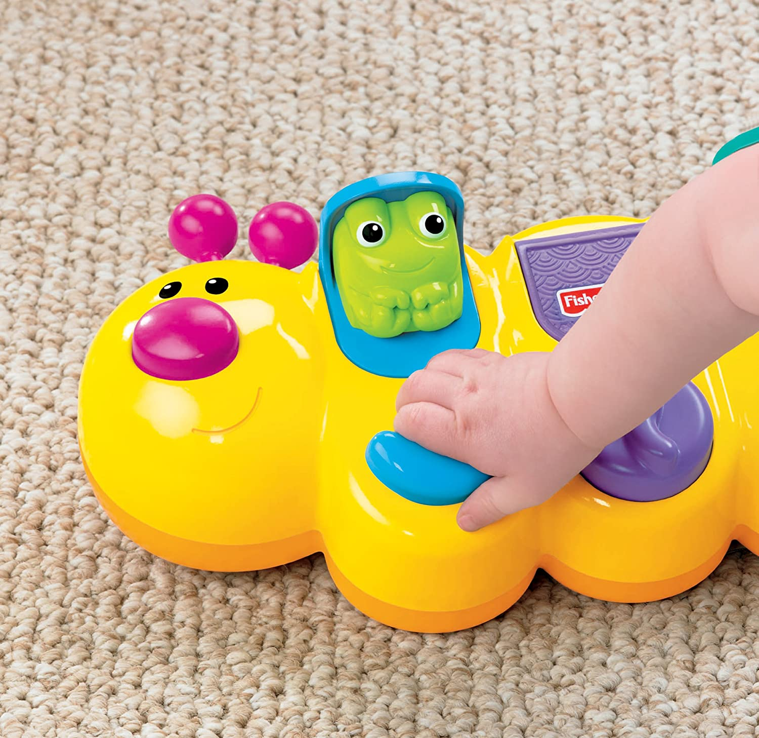 Amazon Fisher Price Growing Baby Caterpillar Pop Up Toys & Games