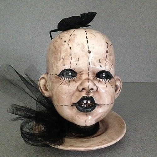 Amazon Voodoo Head Halloween Spooky Doll Head Patio Vase