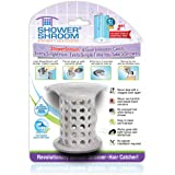 "ShowerShroom the Revolutionary 2"" Stand-Up Shower Stall Drain Protector Hair Catcher/Strainer, Gray"