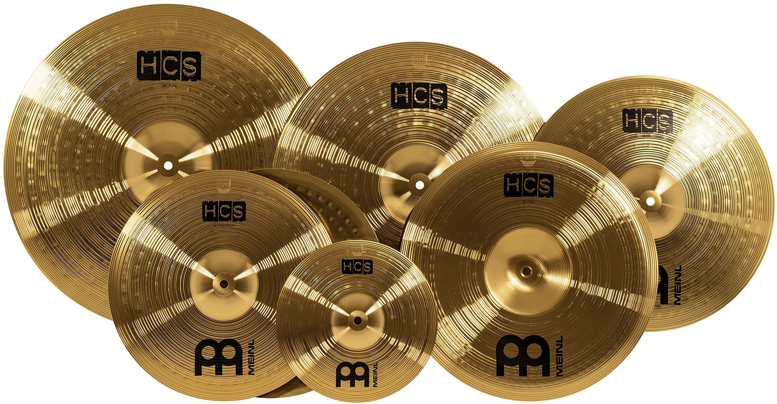 Meinl Cymbals HCS-SCS ''Super Set'' Matched Cymbal Box Set Pack with Hi-Hat, Ride, Two Crashes, China, and Splash Cymbal (VIDEO)