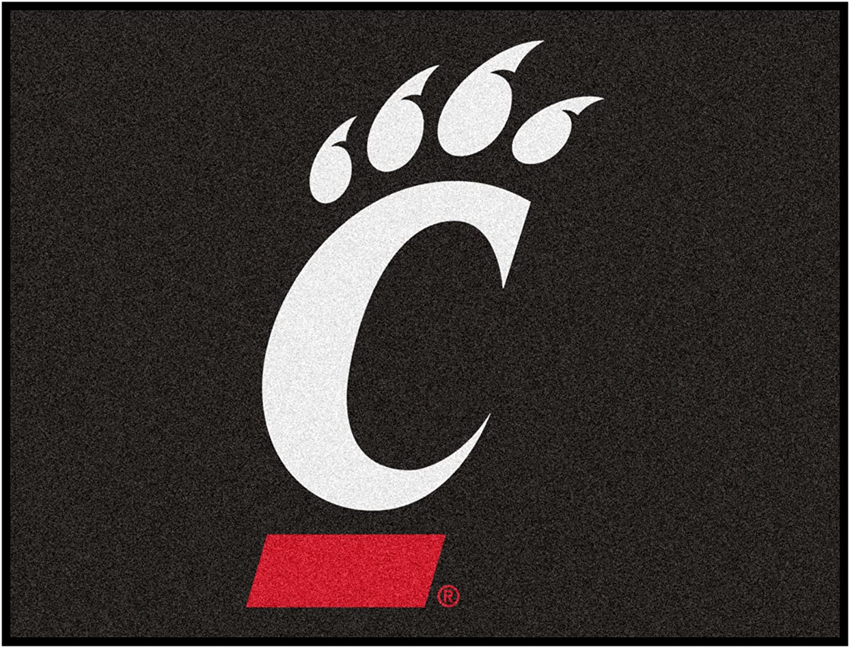 FANMATS NCAA University of Cincinnati Bearcats Nylon Face All-Star Rug