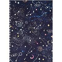 Woohoodesign 19734-47763 Spiralli Okul Defteri Kareli ve Çizgili A4/A5 110 Galaksi A5-Çizgili
