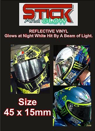 2 x reflectante Rossi Márquez óvalos visera del casco pegatinas * 6 colores*
