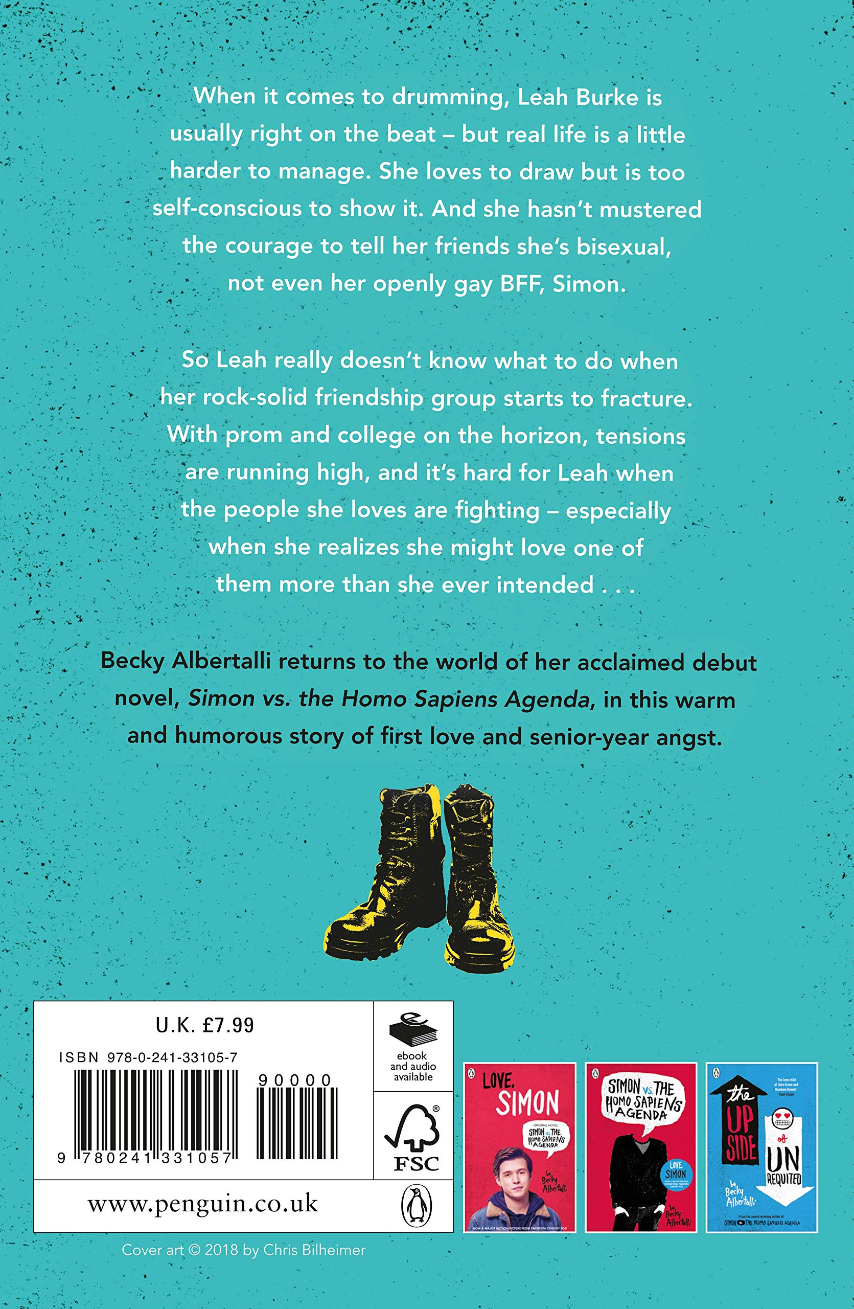 Leah on the Offbeat: Becky Albertalli: 9780241331057: Amazon ...
