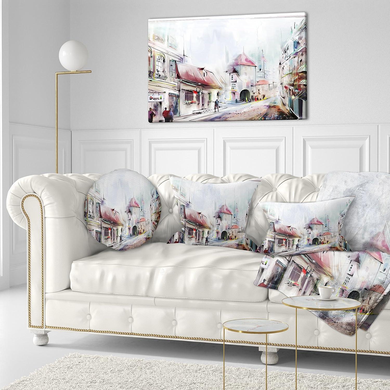 Designart CU7312-12-20 Montreux Illustration Throw Pillow 12 x 20